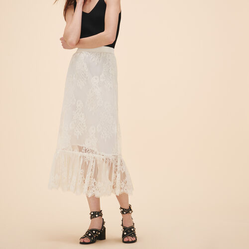 Gonna lunga in pizzo - Gonne e shorts - MAJE