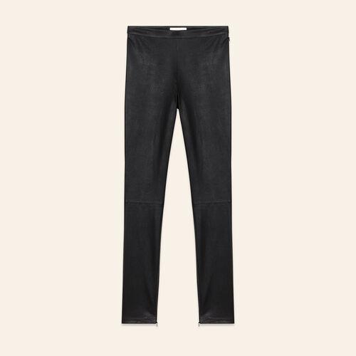 Leggings in pelle stretch - Pantaloni - MAJE