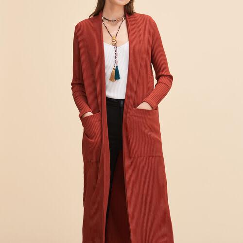 Cardigan lungo in maglia tubolare - Maglieria - MAJE