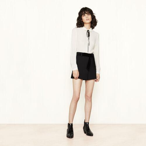 Short corti in crêpe con cintura - Gonne e shorts - MAJE
