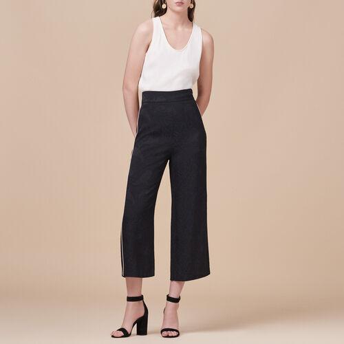 Pantaloni ampi con stampa brocart - Pantaloni - MAJE