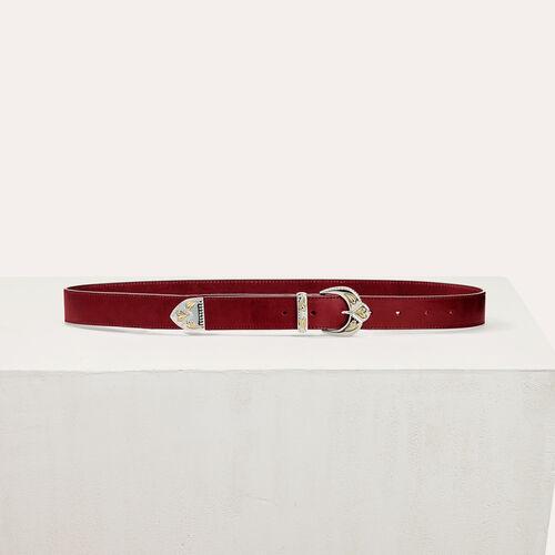Cintura in pelle con fibbia decorata - Cinture - MAJE