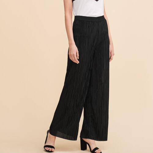 Pantaloni plissettati reversibili - Pantaloni - MAJE