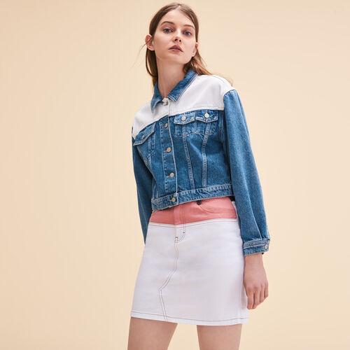 Giacca di jeans bicolore - Giacche - MAJE