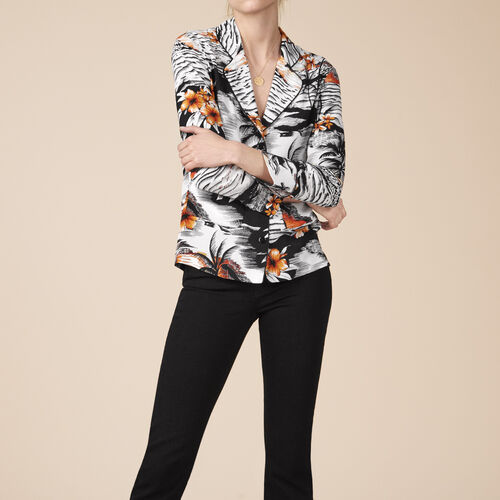 Camicia stile pigiama con stampa - Tops - MAJE