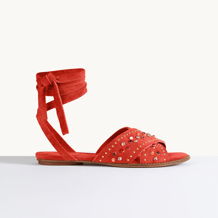 Sandali bassi con borchie -  - MAJE