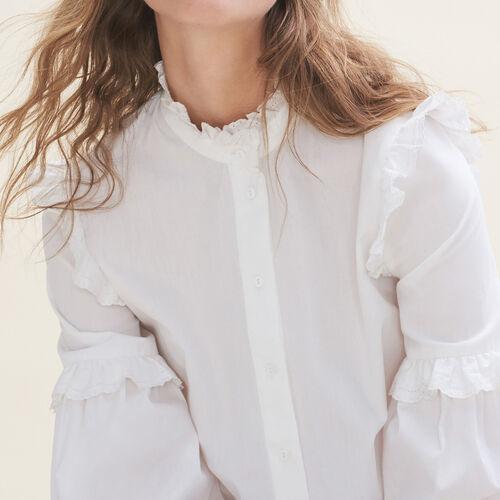 Camicia in popeline con volant - Tops - MAJE