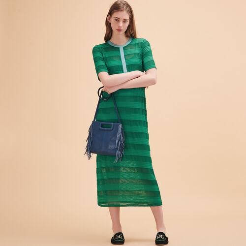 Abito lungo con lacci lavorati a maglia - Vestiti - MAJE