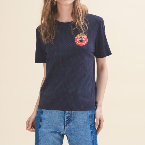 T-shirt ricamata Martedì - Tops - MAJE