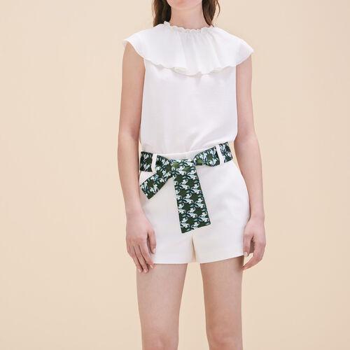 Short con cintura jacquard - Gonne e shorts - MAJE