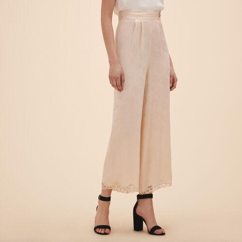 Pantaloni larghi in jacquard satin - Pantaloni - MAJE