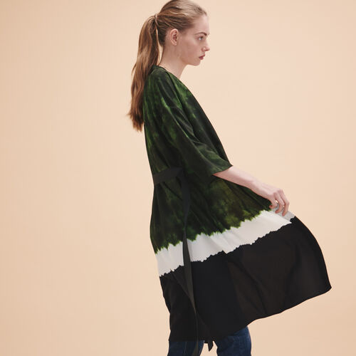 Giacca kimono con stampa Tie and Dye - Giacche - MAJE