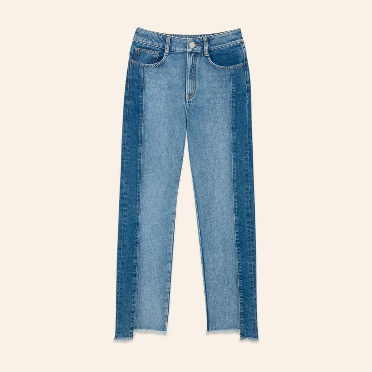Jeans straight in denim délavé - Jeans - MAJE