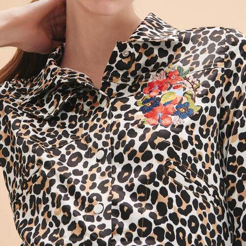 Giacca corta con stampa leopardata - Giacche - MAJE