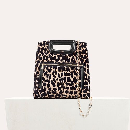 Borsa con stampa leopardo - M bag - MAJE