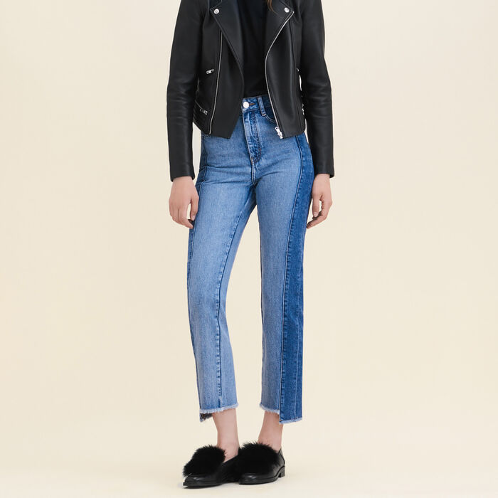 Jeans straight in denim délavé -  - MAJE