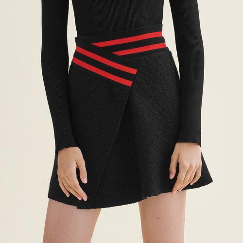 Gonna asimmetrica in tweed - Gonne e shorts - MAJE