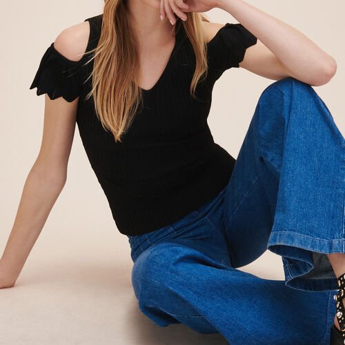 Pullover in maglia stretch - Maglieria - MAJE