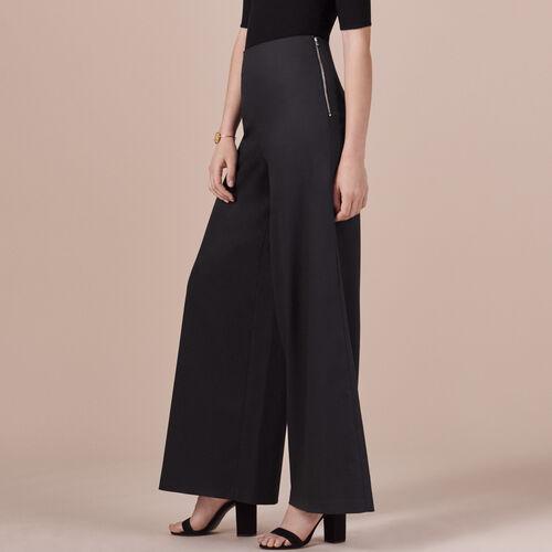 Pantaloni ampi in tela - Pantaloni - MAJE