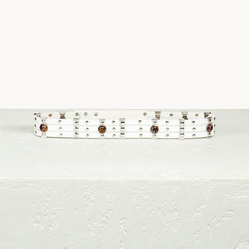 Cintura in pelle con borchie - Cinture - MAJE