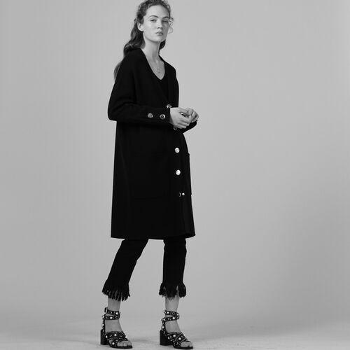 Cardigan lungo in maglia rigida - Maglieria - MAJE