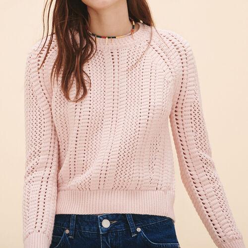 Pullover in maglia traforata - Maglieria - MAJE