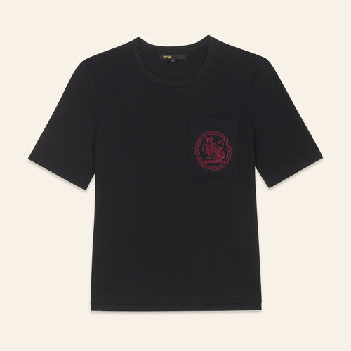 T-shirt in cotone - Tops - MAJE
