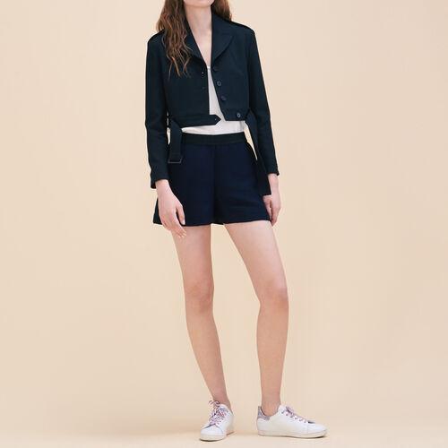 Short corto in tessuto ottoman - Gonne e shorts - MAJE