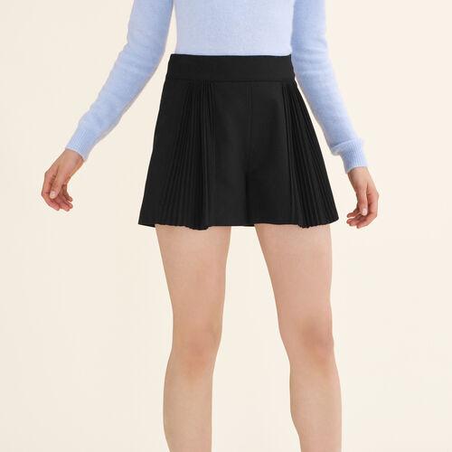 Short corti con dettagli plissettati - Gonne e shorts - MAJE