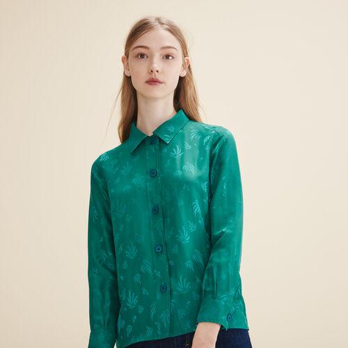 Camicia ricamata in seta - Tops - MAJE