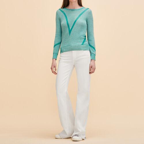 Pullover in maglia sottile con lurex - Maglieria - MAJE