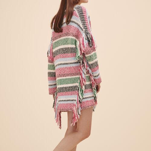 Cardigan in maglia multicolore - Maglieria - MAJE