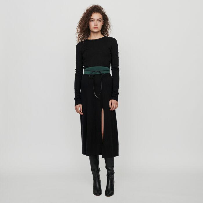Vestito in maglia reversibile : Vestiti colore Nero