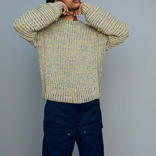 Pull oversize in maglia fantasia : Maglieria colore Multicolore