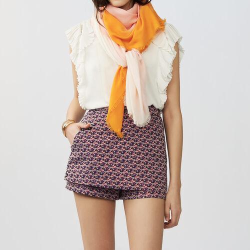 Tie and dye printed shawl : Accessori colore Bicolore