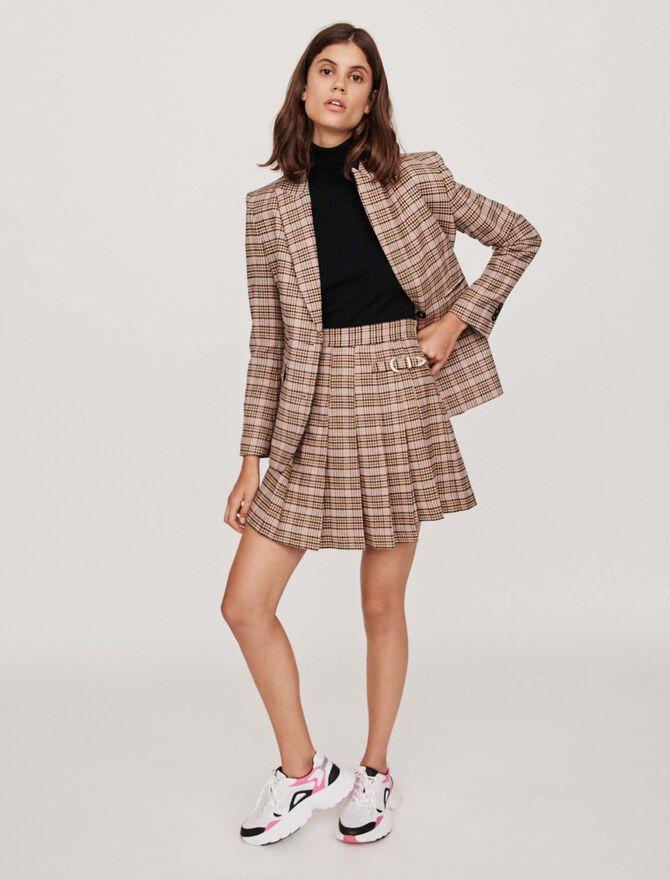 Pleated plaid kilt-style skirt - Midseason-Sales_UK_30% - MAJE