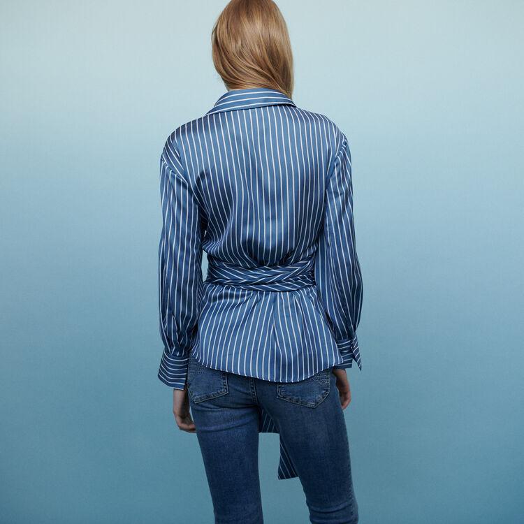Camicia scalda cuore a righe : Tops e Camicie colore A Righe