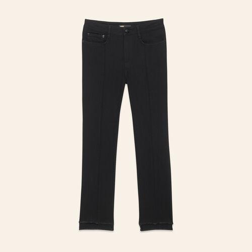 Jeans dritti con orlo asimmetrico : Pantaloni e jeans colore Nero