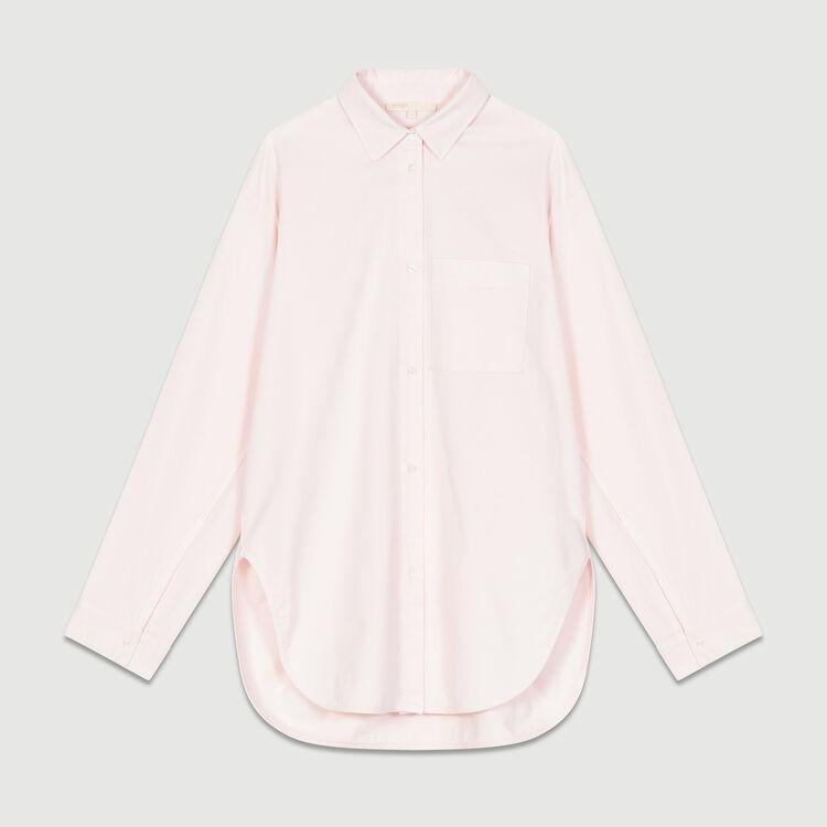 Camicia oversize in jeans : Camicie colore Rosa Tenue