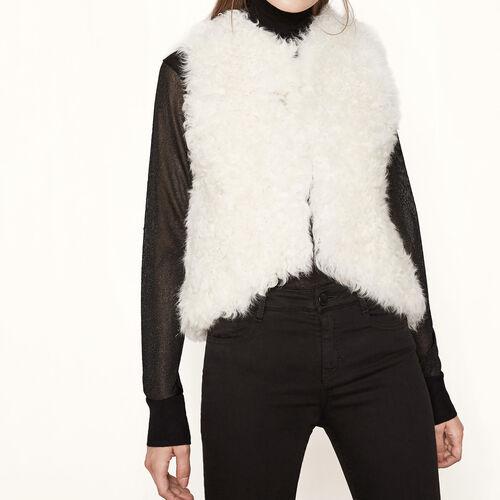 Giacca senza maniche in pelliccia : Giacche e giubbotti colore Beige