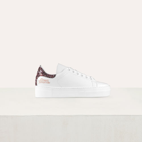 Sneakers in pelle con paillette : Sneakers colore Bianco
