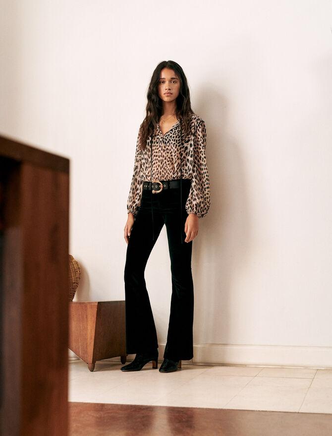 Pantaloni svasati in velluto - Pantaloni e Jeans - MAJE