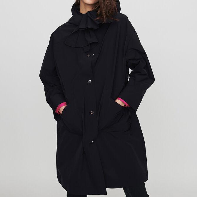 Parka stile giacca a vento con cappuccio -  - MAJE