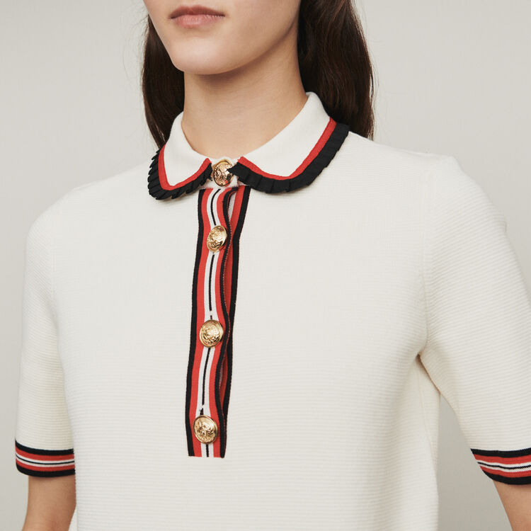 Polo in maglia : Pullover e cardigan colore ECRU