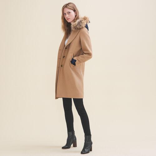 Cappotto lungo in lana e cachemire - Cappotti - MAJE