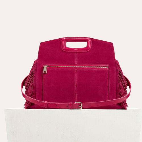 Bisaccia in pelle scamosciata : Bags colore Lampone