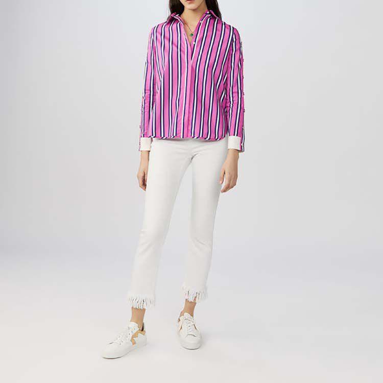 Camicia rigata in cotone : Camicie colore A Righe