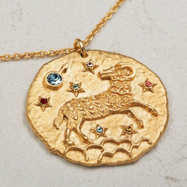 Collana segno zodiacale Ariete : Gioelli colore OR