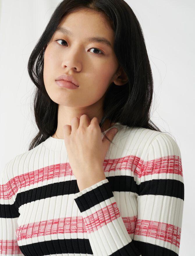 Pullover a righe in maglia a costine - Pullover e cardigan - MAJE