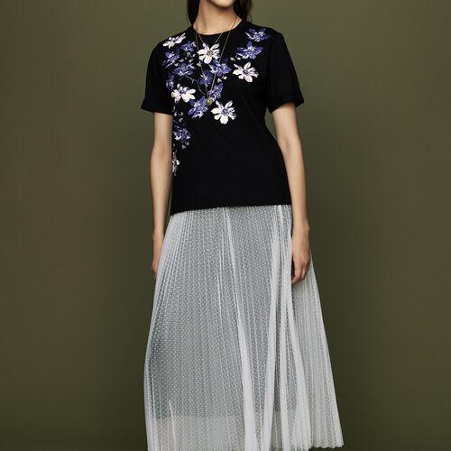 Gonnellone plissettato : Gonne e shorts colore ECRU
